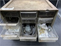 Small drawer organizer and contents