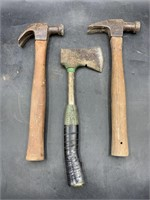 2 hammers & axe