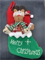 New 3d Reindeer Christmas stocking