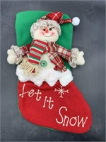 New 3d snowman Christmas stocking