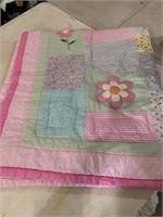 Flower/patchwork comforter