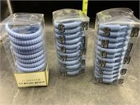 3 sets of 12 shower rings