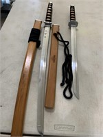 2 martial arts training swords