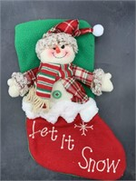 New 3d snowman Christmas stocking