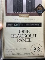 One blackout panel 54x84in - black