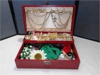 Vintage Jewellery Box & Contents