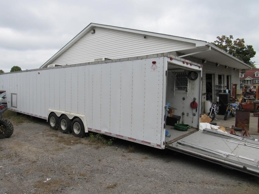 Racing Trailer with New Wench and Tool Box