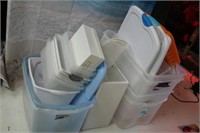 Lot of Totes, Lids ect...
