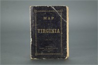 Confederate Issued Map of Virginia. 1862.