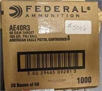 1,000 Round Case of .40 S&W Ammo