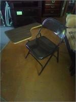 Metal folding desk/chair
