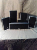 Sony surround sound speakers. 6 speakers