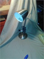 Nice stainless flexible desk lamp. Working.
