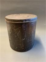 Primitive 2 Gallon Tin Flour Container