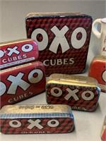 Antique OXO Tin and Rare Ad Mugs