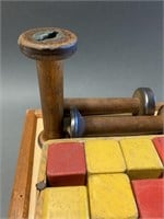 Early Games Board and Yarn Spools