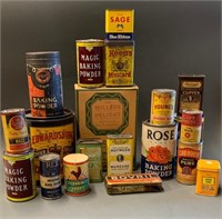 Large Lot of Kitchen Nostalgia-Tins-Boxes