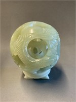 Fine Jade Chinese Fish Ball Carving-4""