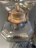 CNR Railroad and Clear Glass Oil Lantern