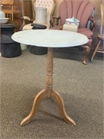 Small Marble Top Pedestal End Table
