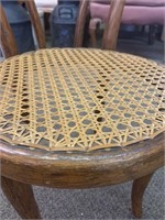 Caned Seat Bent Wood Parlor Chair