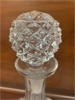 Vintage Cut Glass Liquor Decanter