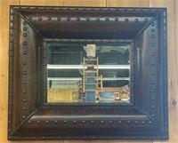 Oversize Beveled Glass Study Mirror