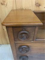 Unusual Antique 4 Drawer Dresser