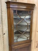 Fine Antique Cherry Corner Cupboard
