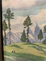 Original T.H.Moser Watercolour
