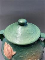 Blue Roseville Magnolia Cookie Jar