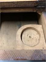 Antique Oak Shoe Shine Box