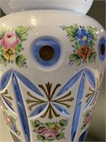 Fine Czech Bohemian Cased Glass Vase
