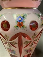 Fine Czech Bohemian Cased Glass Vase