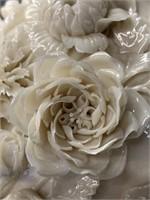 Stunning Belleek Flower Incrusted Vase