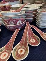 Chinese Jingdezhen Mun Shou Porcelain Dinnerware