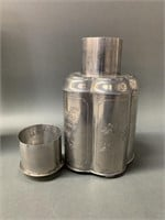 Chinese Pewter Tea Caddy
