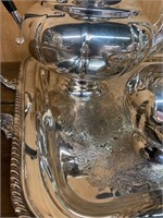 Heavy Silver Plate Tea and Coffee service