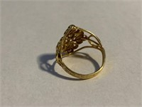 Fancy Unmarked Gold Dinner Ring