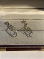 Pair of Ladies 14Kt Yellow Gold Earrings