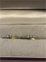 Pair of Ladies 14Kt Yellow Gold Earrings