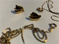 Group of 10Kt Yellow Gold Chains
