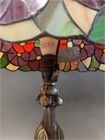 Beautiful Stained Glass Shaded Lamp