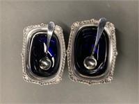 Pair Birks Sterling Silver Master Salts-Circa 1956