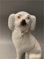 Antique Staffordshire Confetti Poodle Figurine