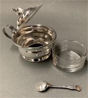 International Sterling Salt Cellar & Spoon