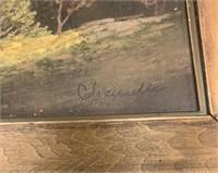 Original Chandler Pastel in Frame-Signed