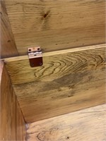 Pine Blanket Box with Panelled Construction