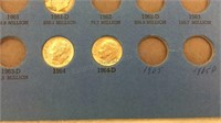 Roosevelt Dime Collection 1945+ - Partially
