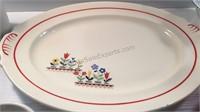Vintage Tulip Platter, Longaberger Bowl and